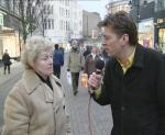 Rik interviewing on the street